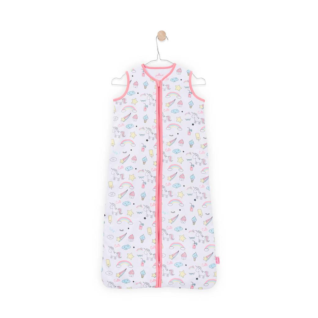 Jollein Unicorn zomer baby slaapzak 70 cm wit/roze