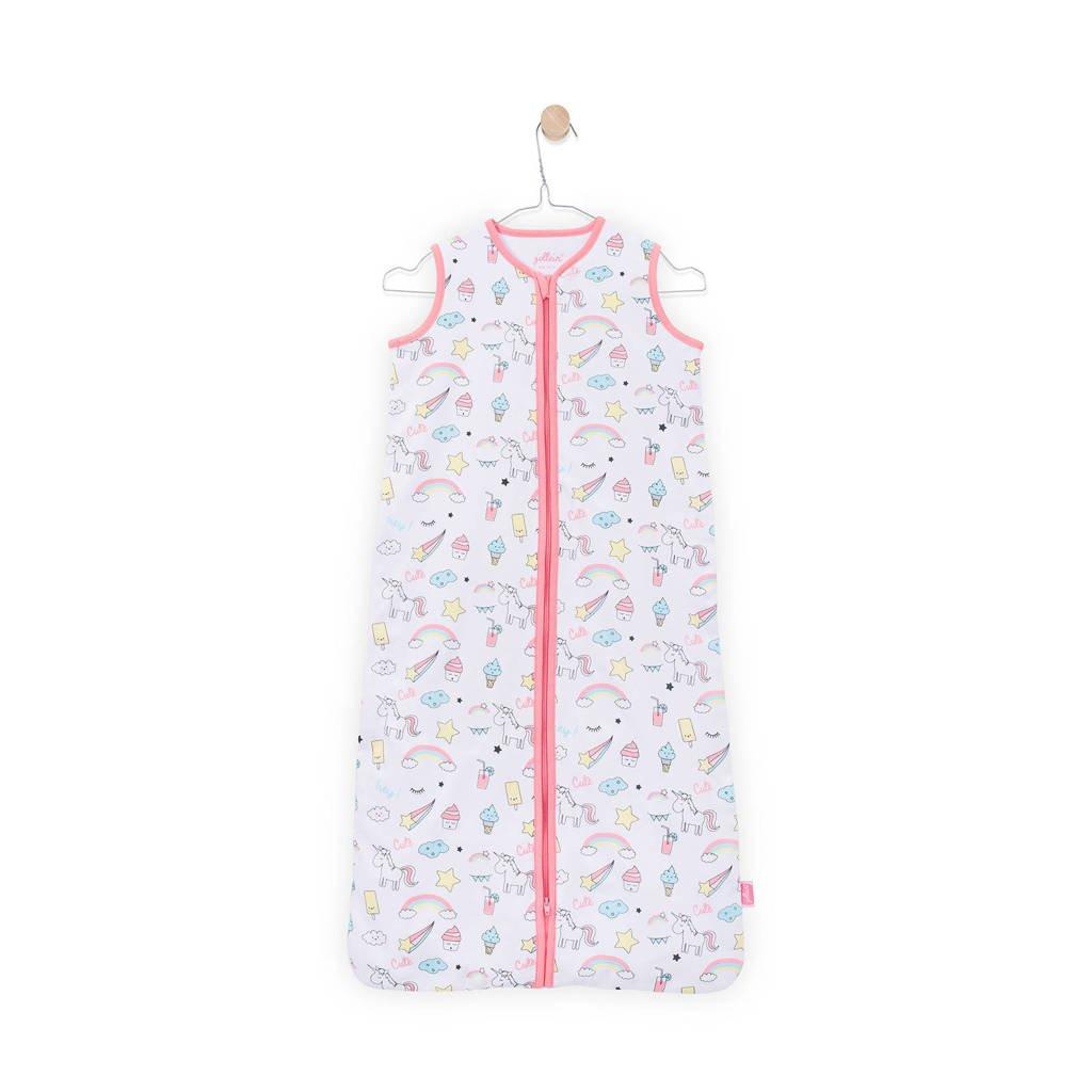 Jollein Unicorn zomer slaapzak 70 cm wit/roze