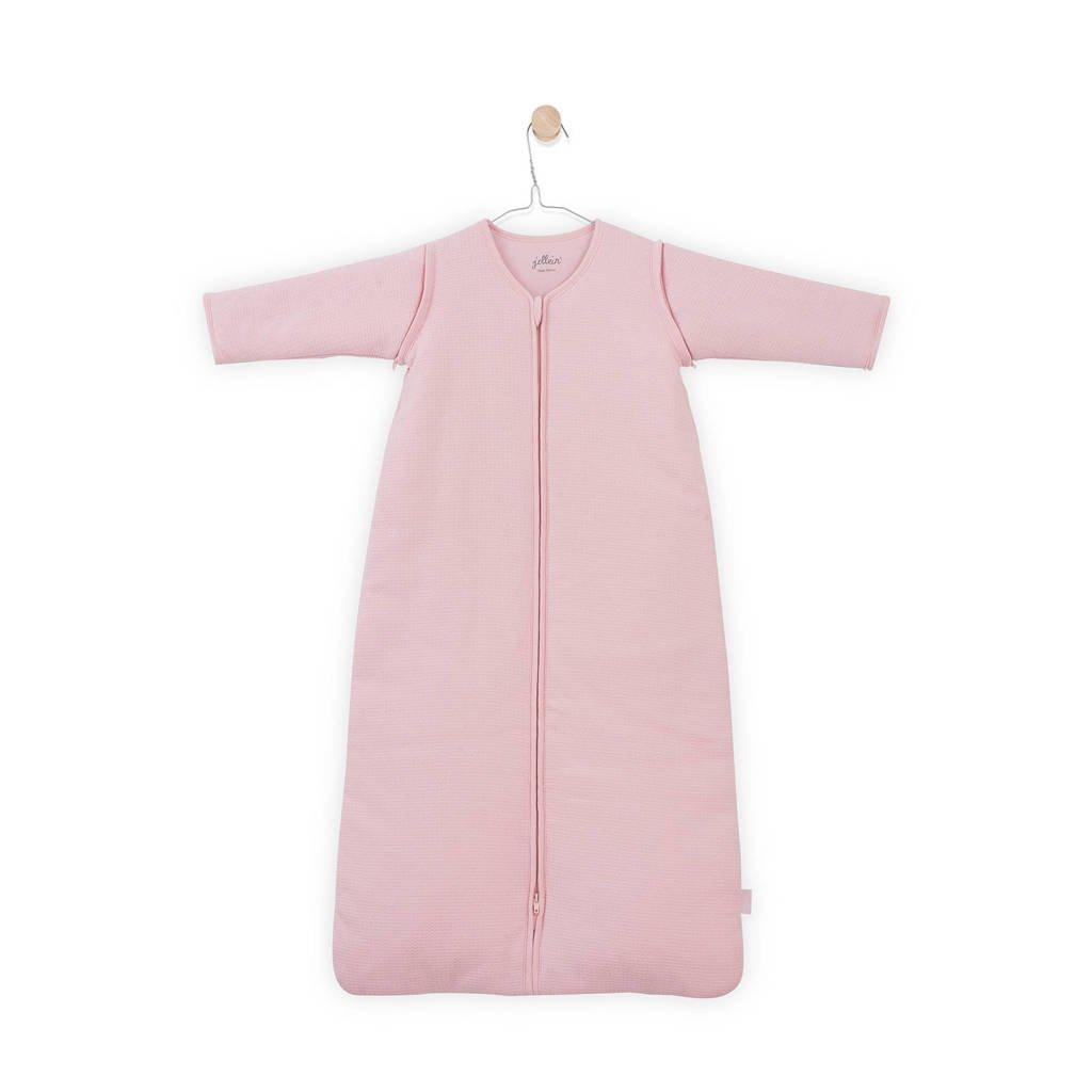 Jollein Tiny Waffle baby slaapzak 4 seizoenen 110 cm roze, Roze