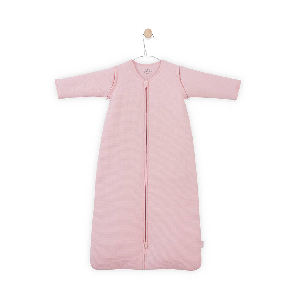 Jollein Tiny Waffle slaapzak 4 seizoenen 110 cm roze, Roze