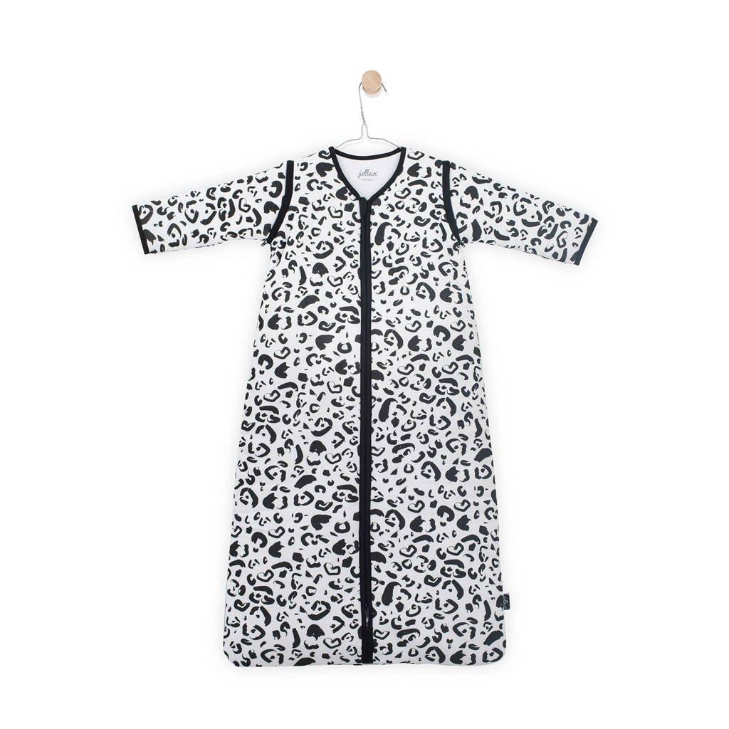 Jollein Leopard baby slaapzak 4 seizoenen 70 cm, Zwart/wit