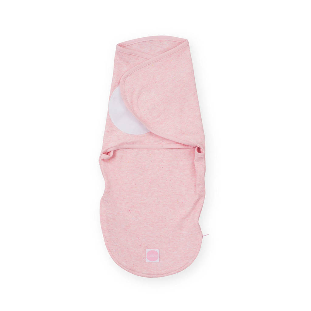 Jollein Wrapper slaapzak 0-3 maanden speckled pink, Roze