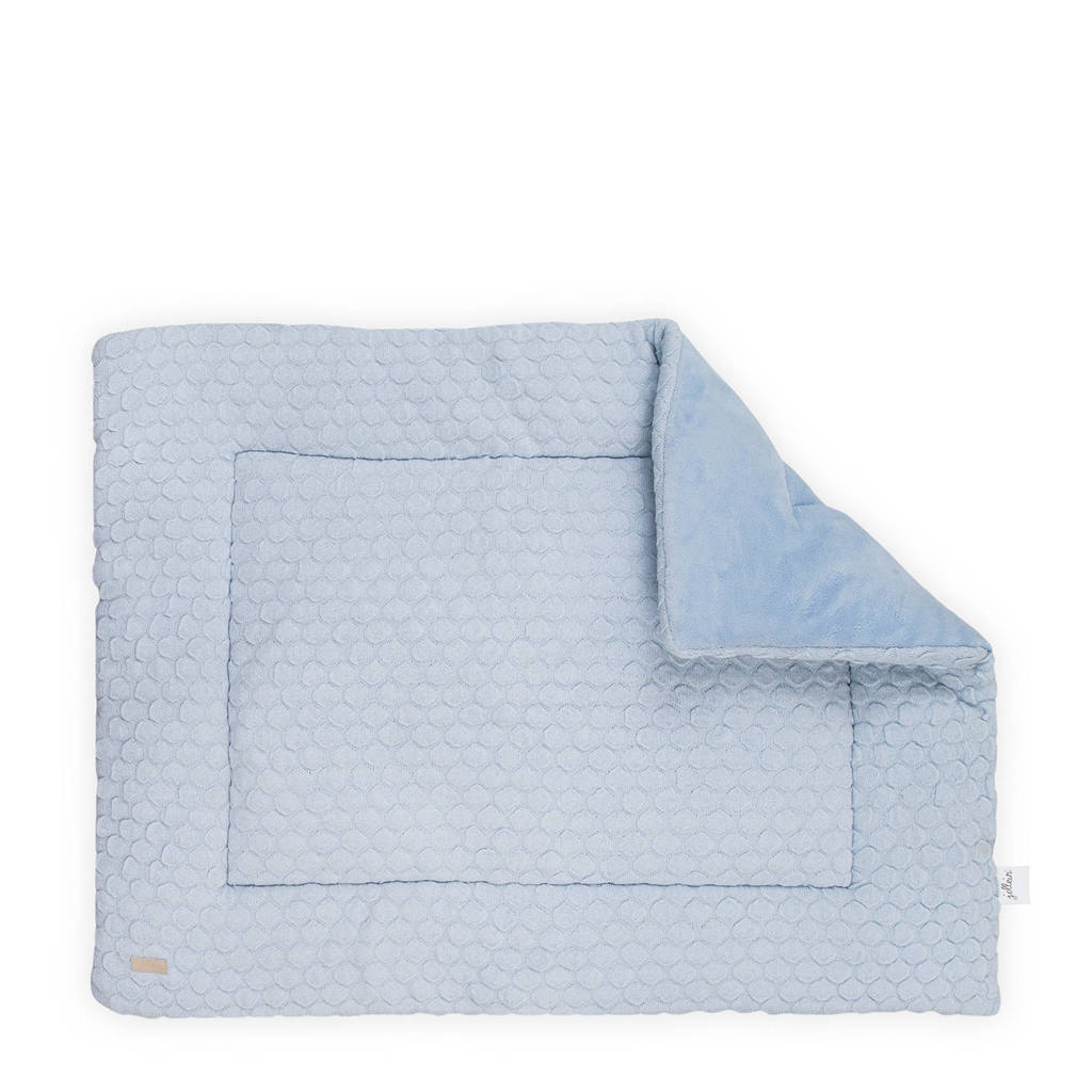 Jollein Fancy Knit boxkleed 80x100 cm, Blauw