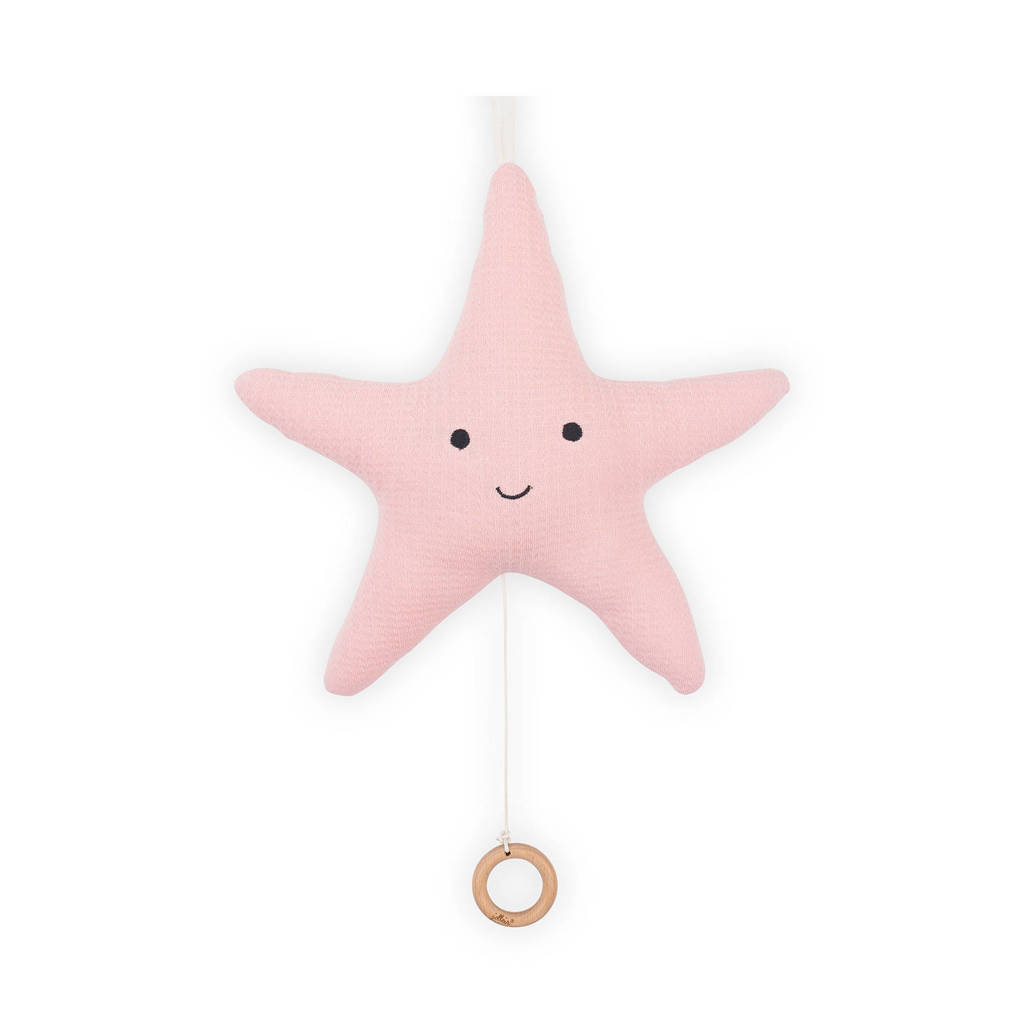 Jollein Tiny waffle muziekhanger zeester roze