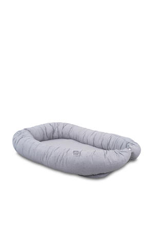Mini dots babynest mist grey