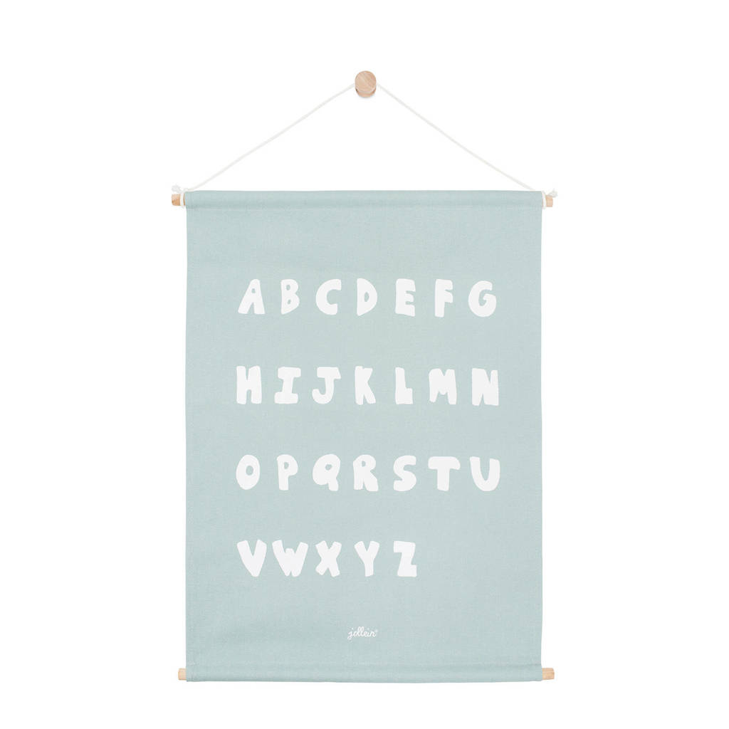 Jollein ABC poster (42x60 cm) stone green  ( cm), Groen