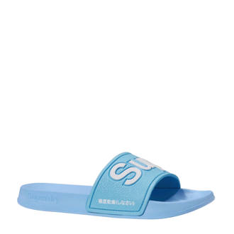 Sport EVA Pool Slide badslippers blauw/wit