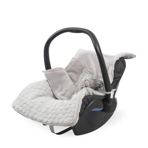Jollein Voetenzak Autostoel 0-9 mnd 3-5 punts Fancy Knit Soft Grey