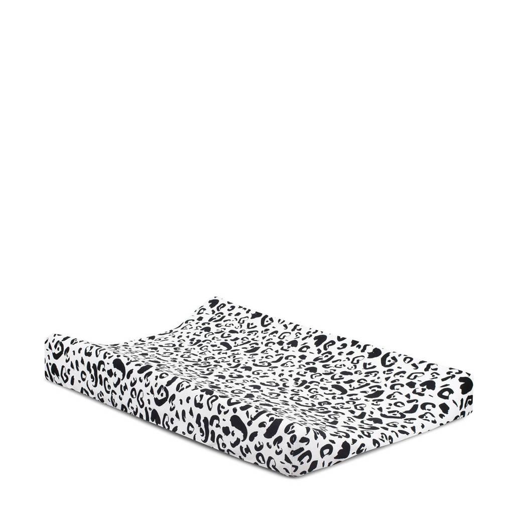 Jollein Leopard aankleedkussenhoes 50x70 cm, Zwart/wit