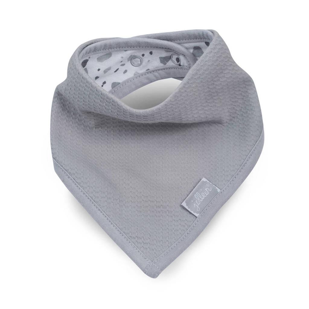 Jollein Tiny waffle bandana slab soft grey, Grijs