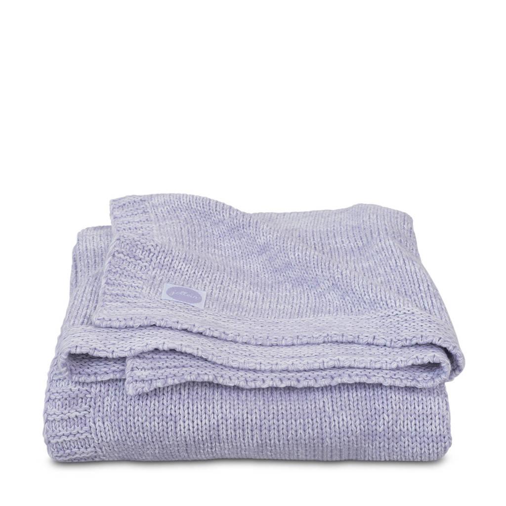 Jollein Melange knit wiegdeken 75x100 cm soft lilac, Lila