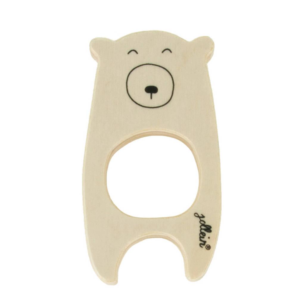 Jollein houten bijtring beer