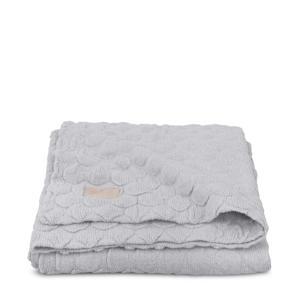 Fancy knit ledikantdeken 100x150 cm soft grey