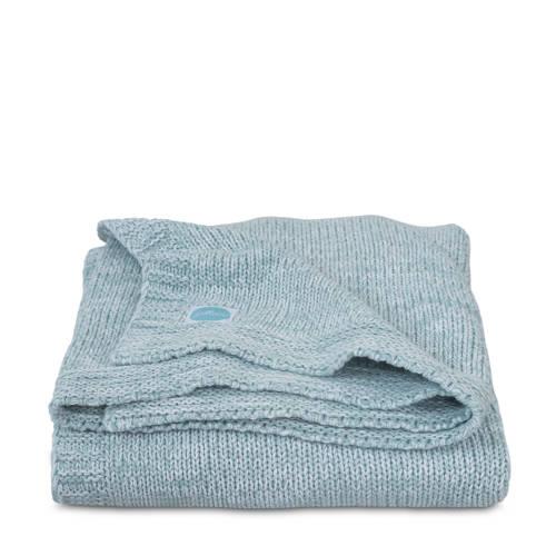 Jollein Melange knit wiegdeken 75x100 cm soft green kopen