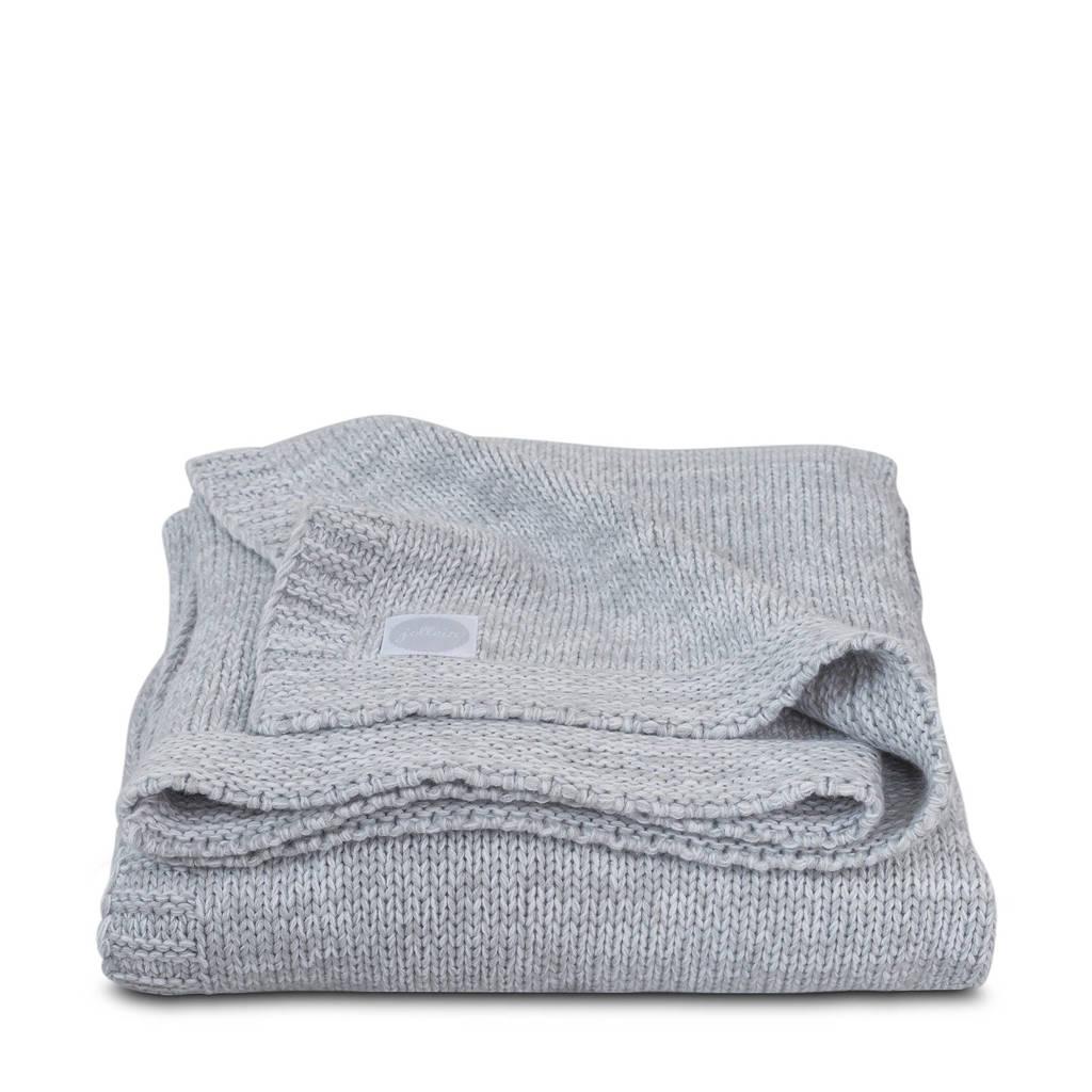 Jollein Melange knit ledikantdeken 100x150 cm soft grey, Grijs