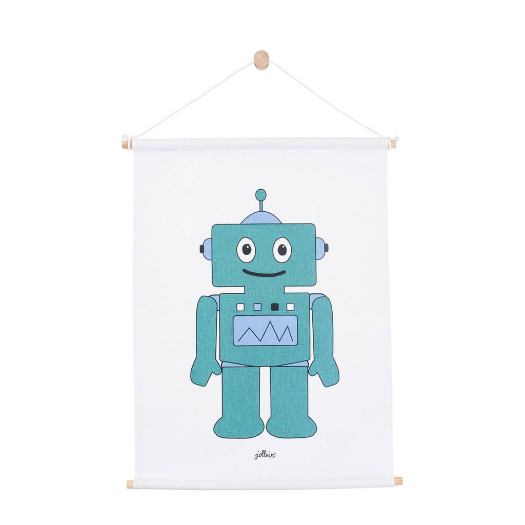 Jollein Robot poster (42x60 cm) blauw, Blauw