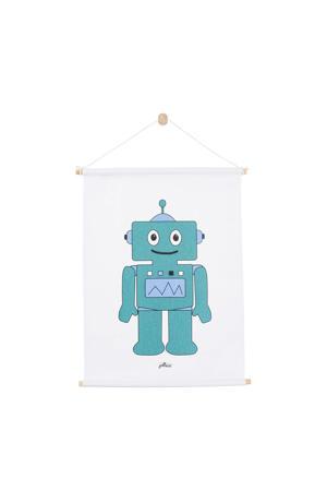 Robot poster (42x60 cm) blauw