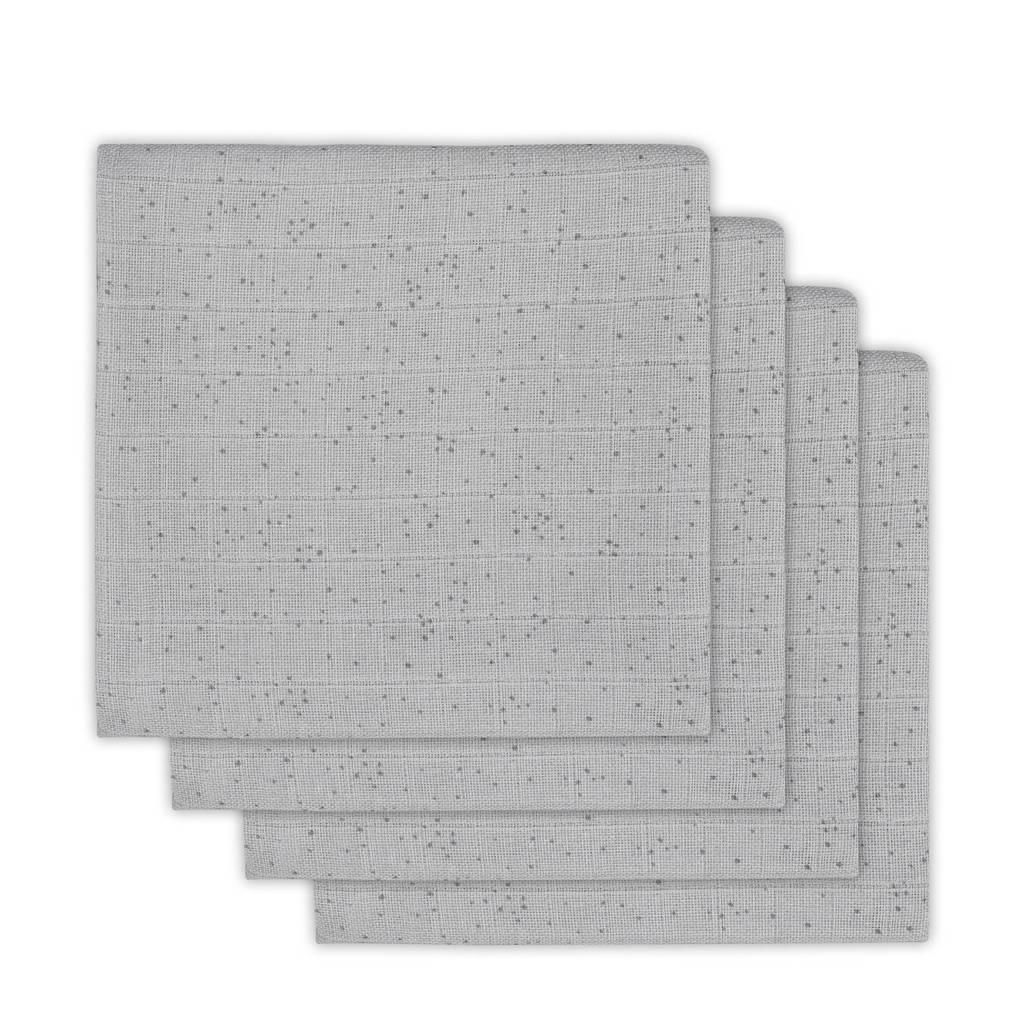 Jollein Mini dots hydrofiele multidoek 115x115 cm mist grey - set van 2, Grijs
