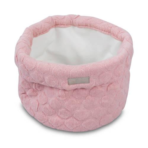 Jollein Fancy knit opbergmandje blush pink kopen