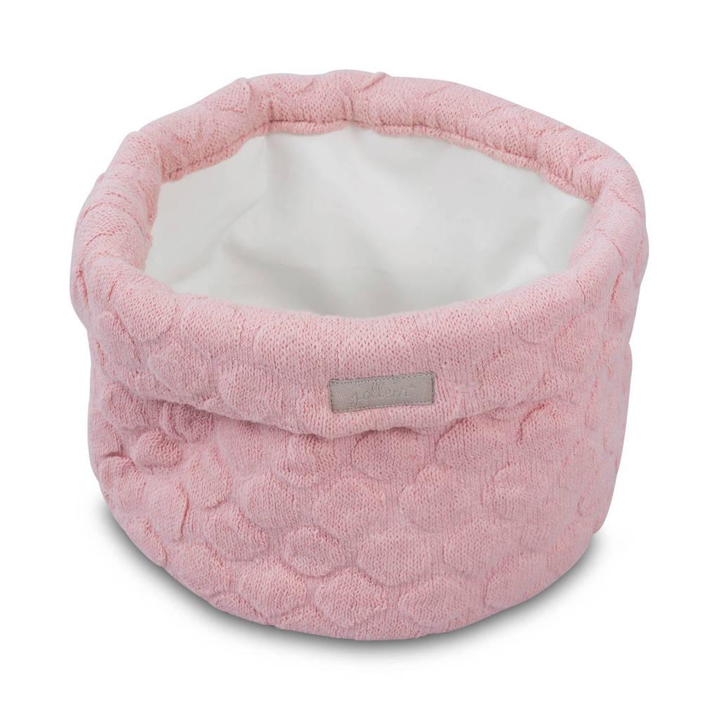 Jollein Fancy knit opbergmandje blush pink, Roze