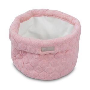 Fancy knit opbergmandje blush pink