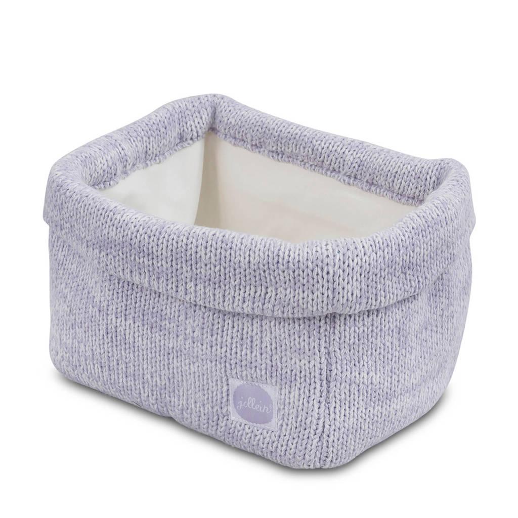 Jollein Melange knit opbergmandje soft lilac, Lila