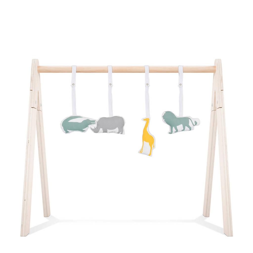 Jollein babygym speeltjes safari, Grijs/groen/geel