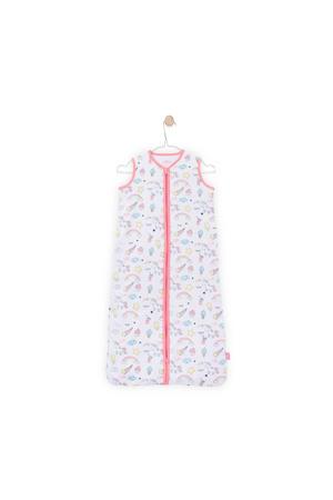 Unicorn zomer baby slaapzak 110 cm wit/roze