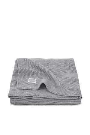 Basic knit ledikantdeken 100x150 cm stone grey