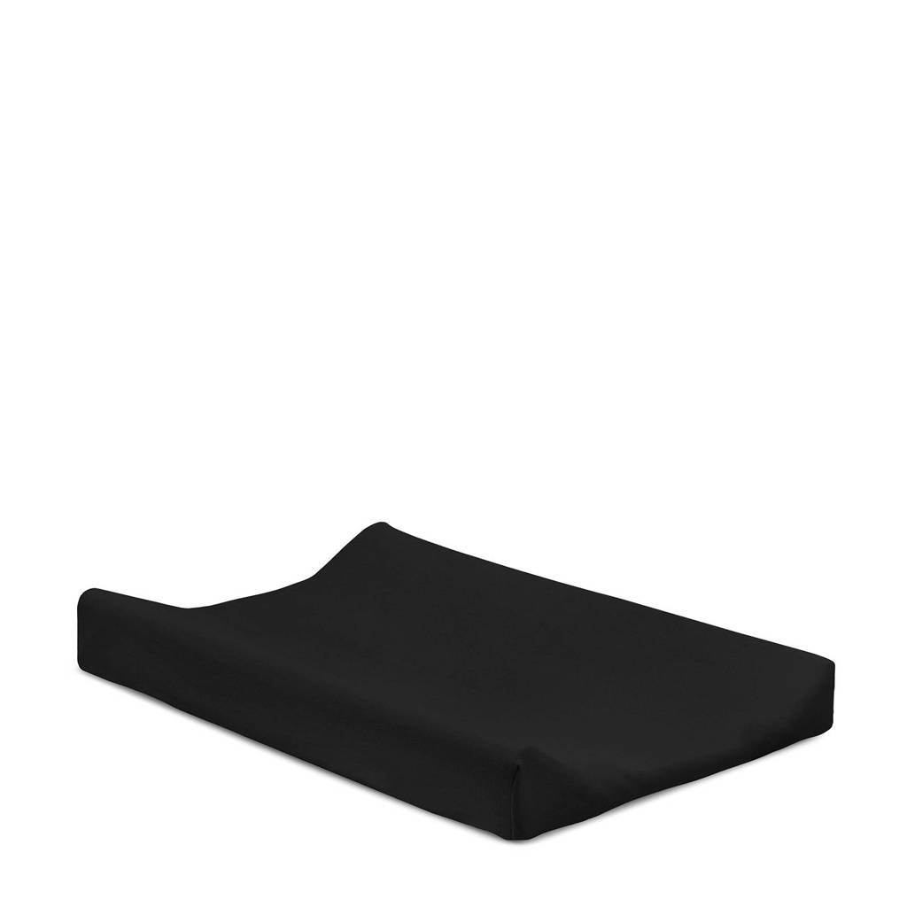Jollein aankleedkussenhoes jersey 50x70 cm zwart, Zwart