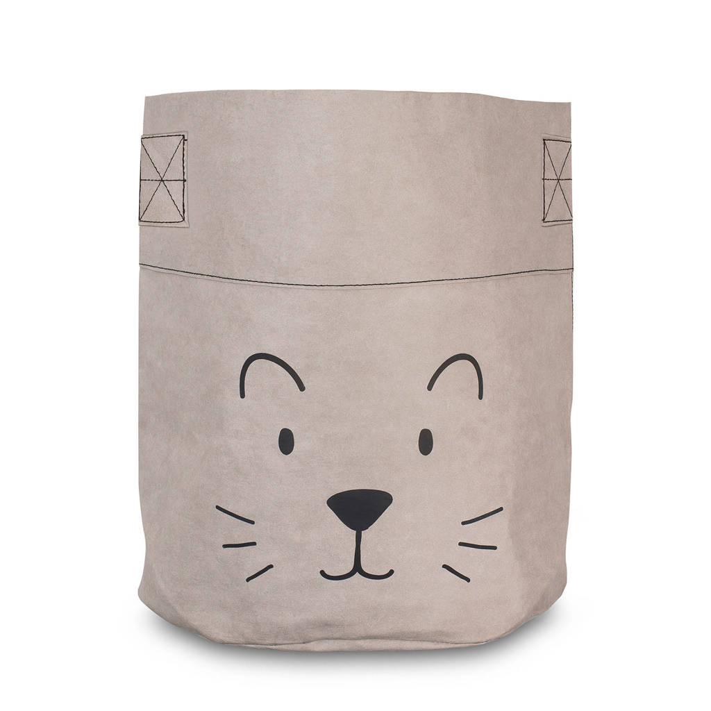 Jollein Little lion opbergmand XL grijs, Grijs