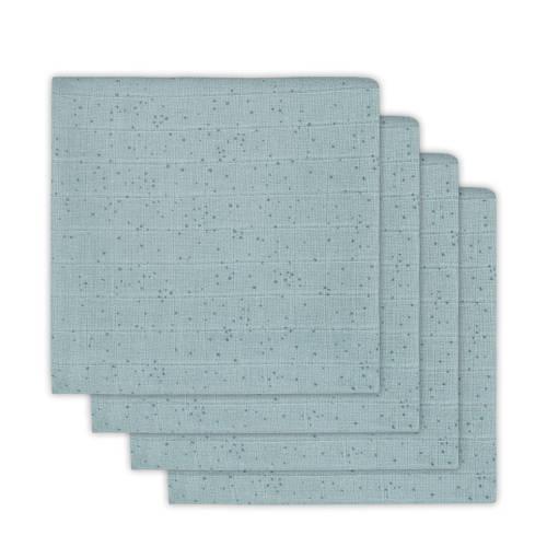 Jollein Mini dots hydrofiele luiers 65x65 cm stone green - set van 4 kopen