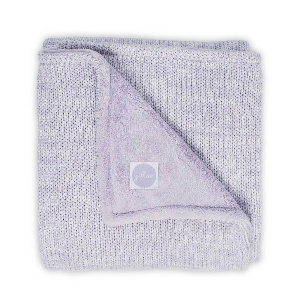 Jollein Melange knit ledikantdeken 100x150 cm lilac, Lila