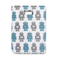 Jollein Robot teal opbergmand XL, Blauw/grijs
