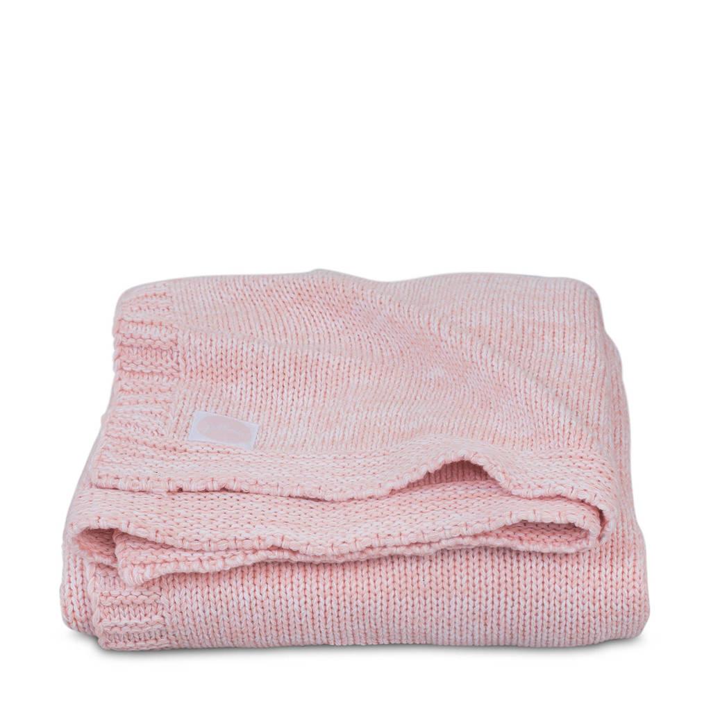 Jollein Melange knit wiegdeken 75x100 cm soft pink, Roze