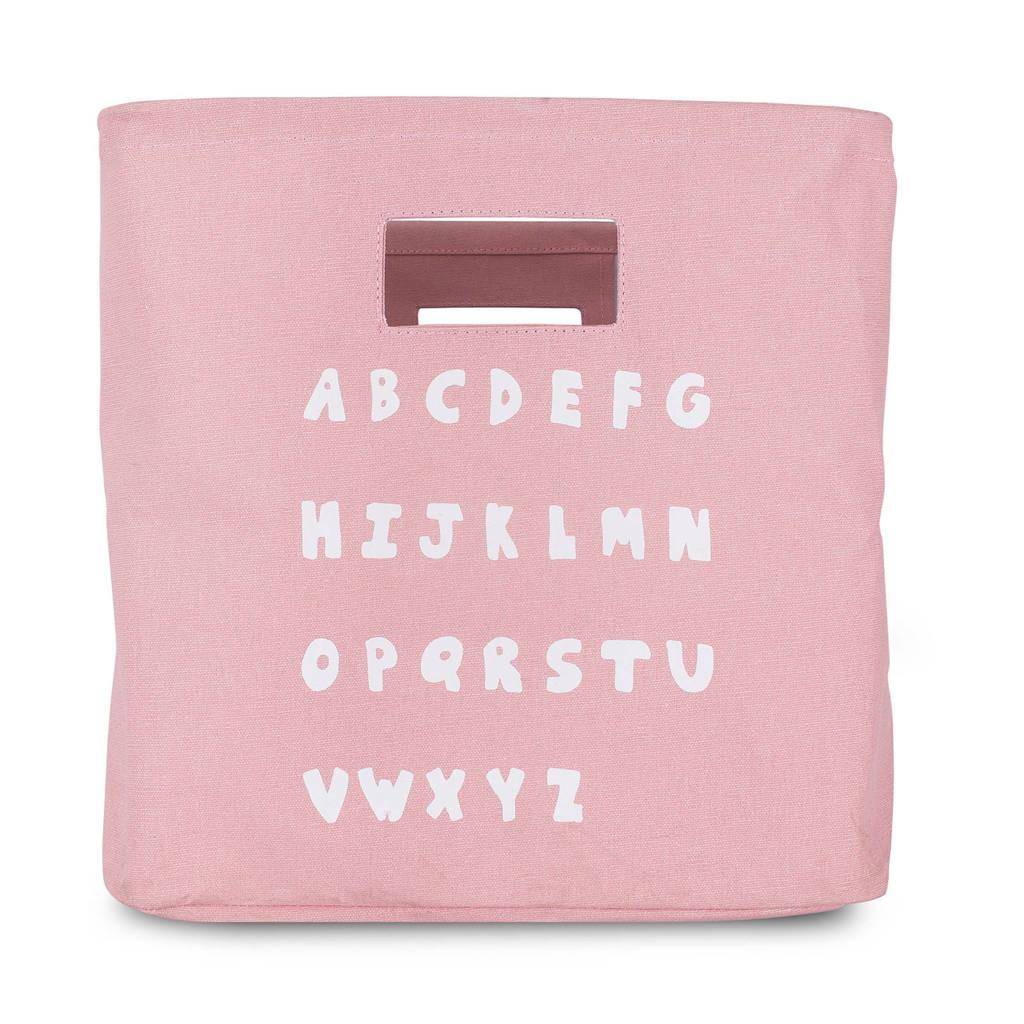 Jollein ABC opbergmand blush pink, Roze