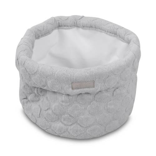 Jollein Fancy knit opbergmandje soft grey kopen