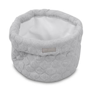 Fancy knit opbergmandje soft grey