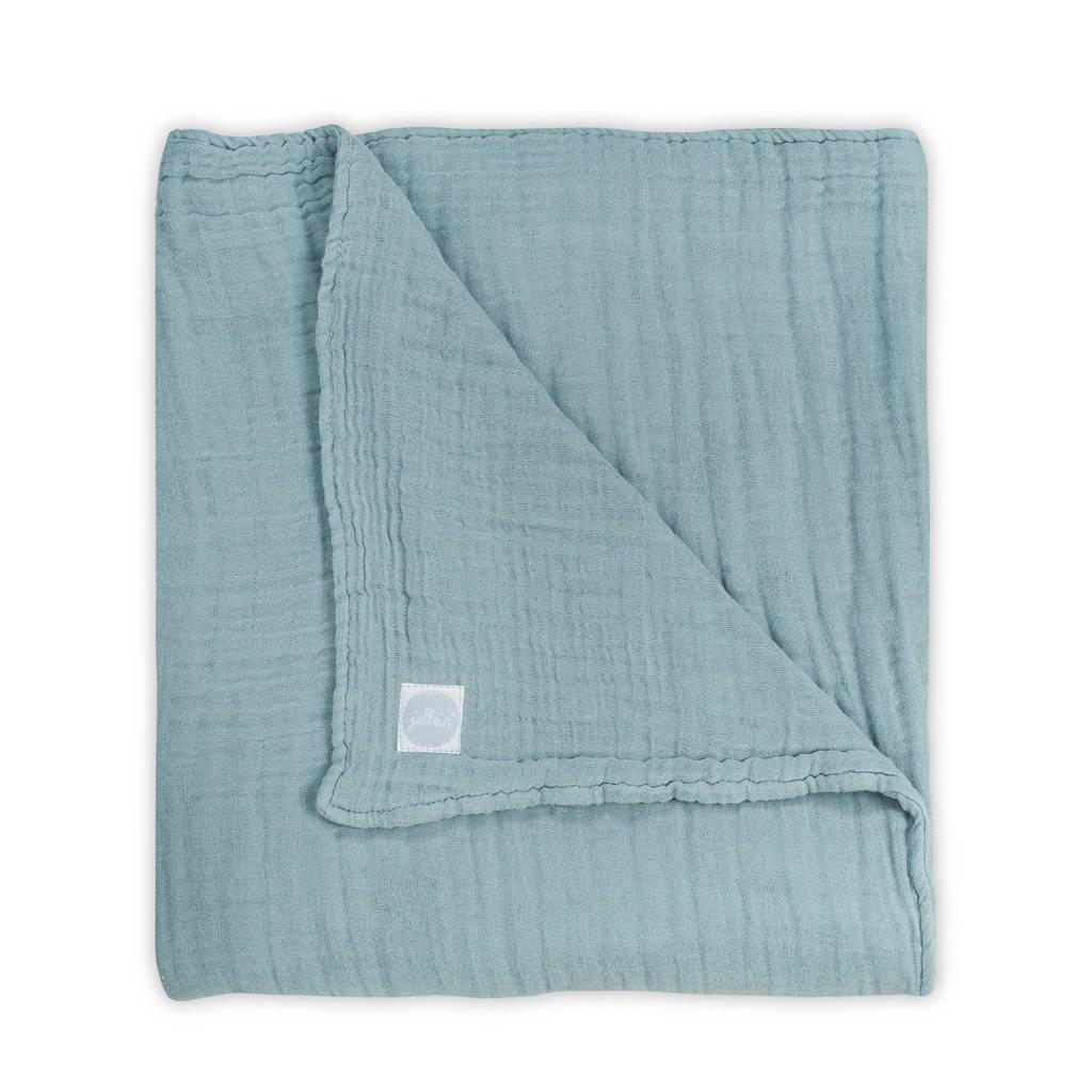 Jollein hydrofiele wrinkled deken 75x100 cm groen, Groen