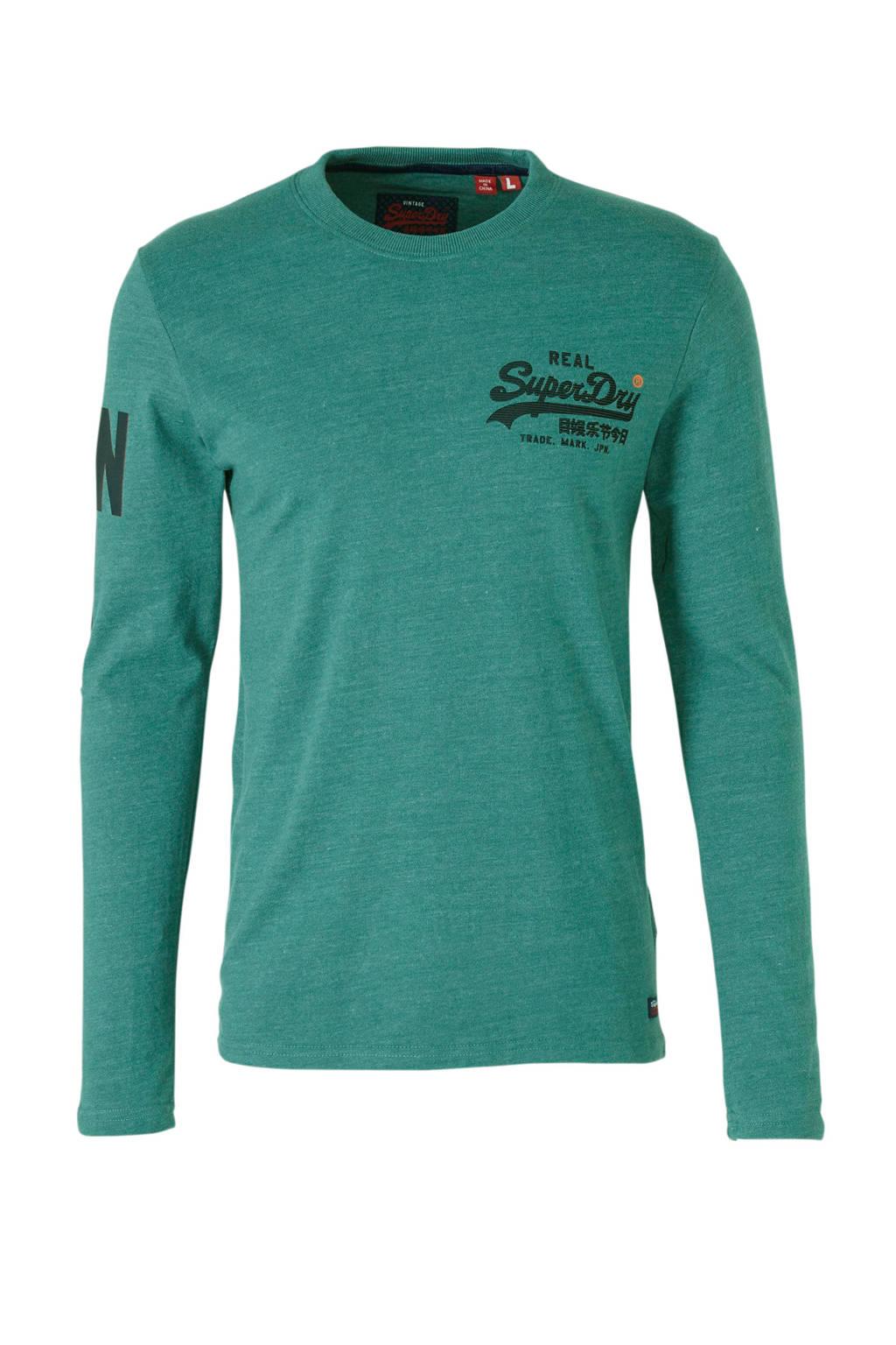 6ed24b4b3c9 Superdry gemêleerd T-shirt met logo | wehkamp