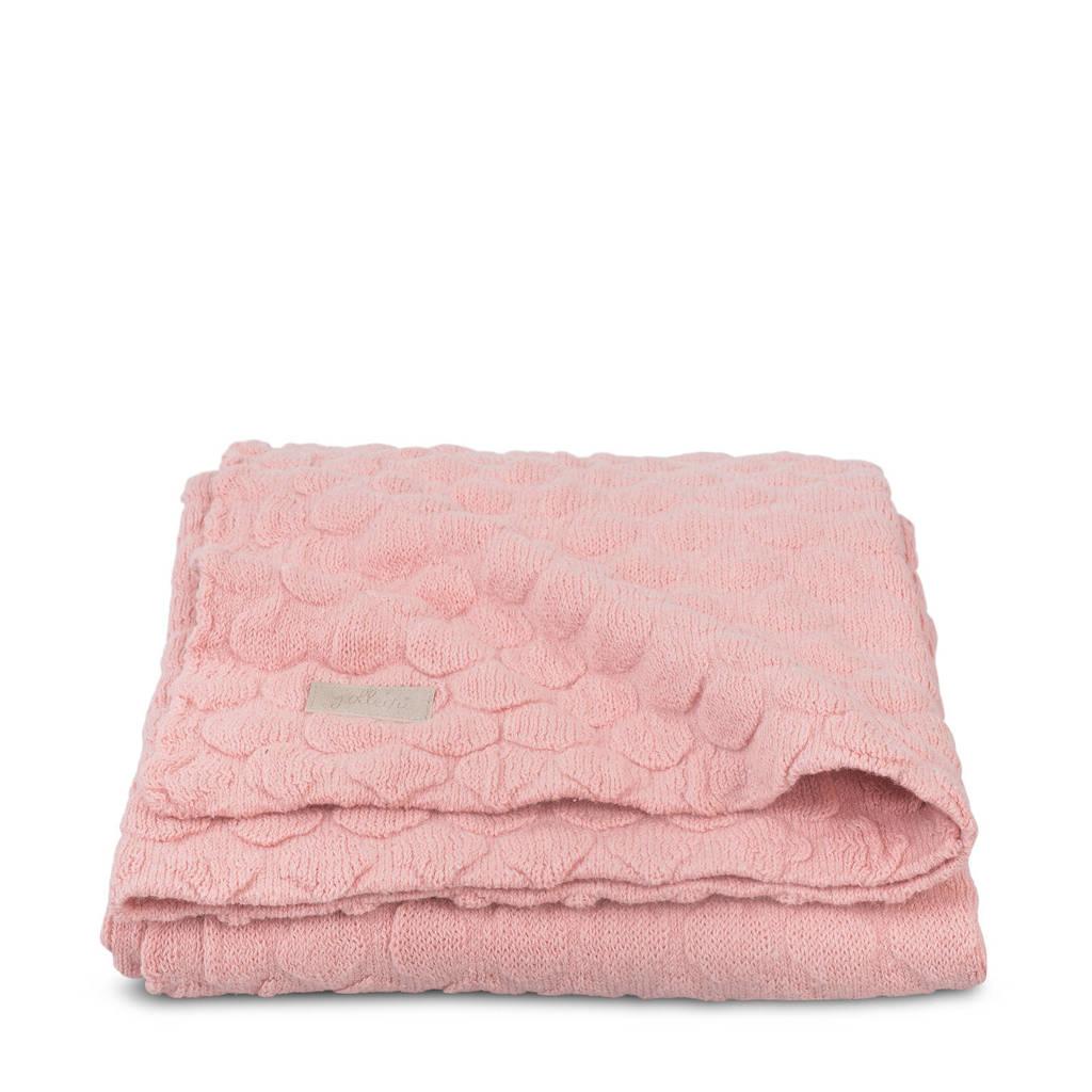 Jollein Fancy knit ledikantdeken 100x150 cm blush pink, Roze