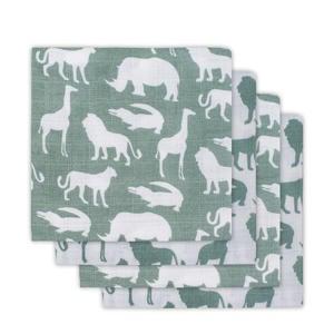 Safari hydrofiele luiers forest green - set van 4