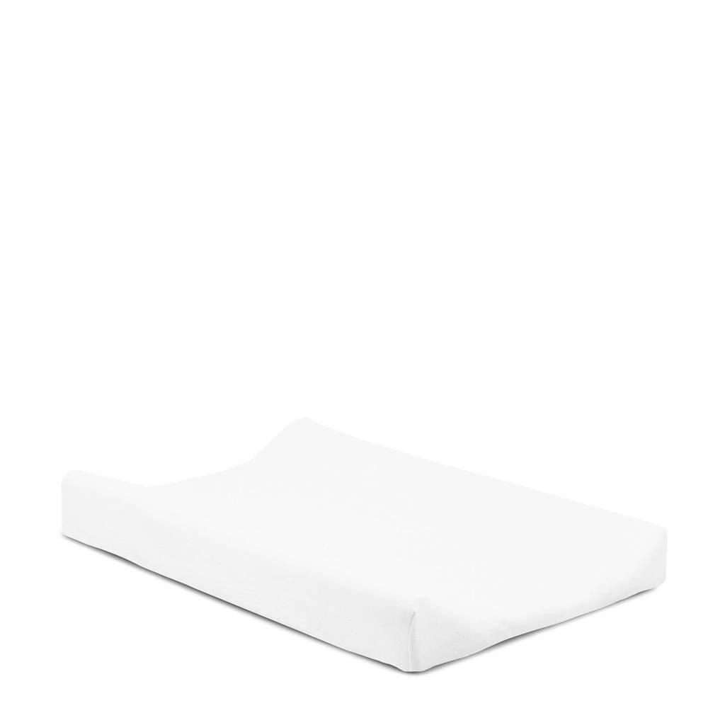 Jollein aankleedkussenhoes jersey 50x70 cm wit, Wit