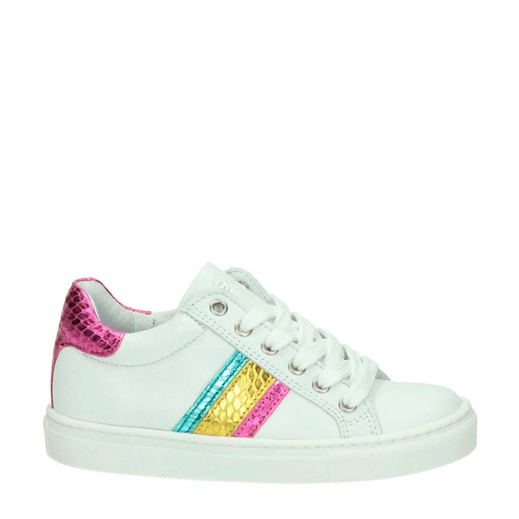 Giga   leren sneakers wit, Wit/multi