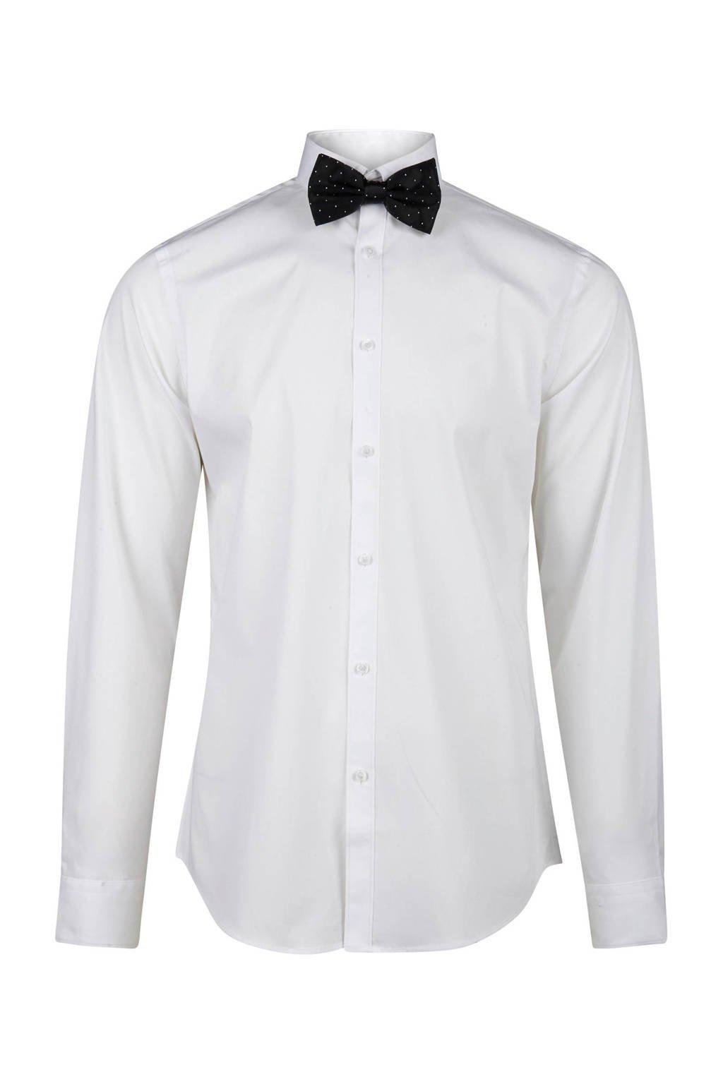 Overhemd Wit Slim Fit.We Fashion Slim Fit Overhemd Wehkamp