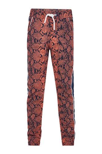 broek met zijstreep oranje/zwart