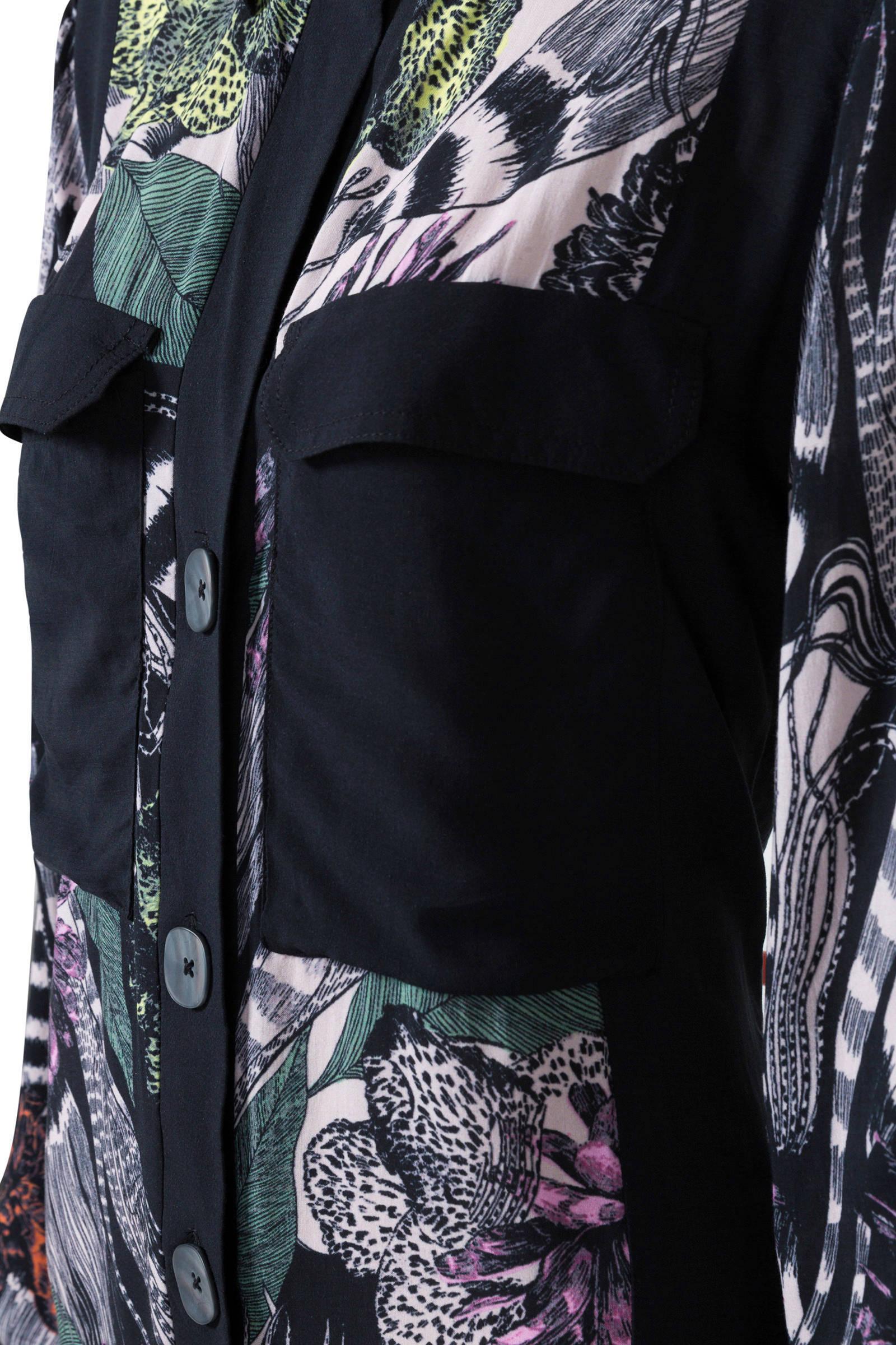 Herenkleding Zwart Desigual Allover Blouse Met Print kiwPXuOZT