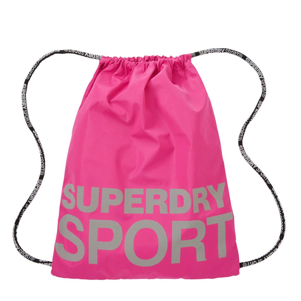 Superdry Sport   gymtas roze, Roze/grijs