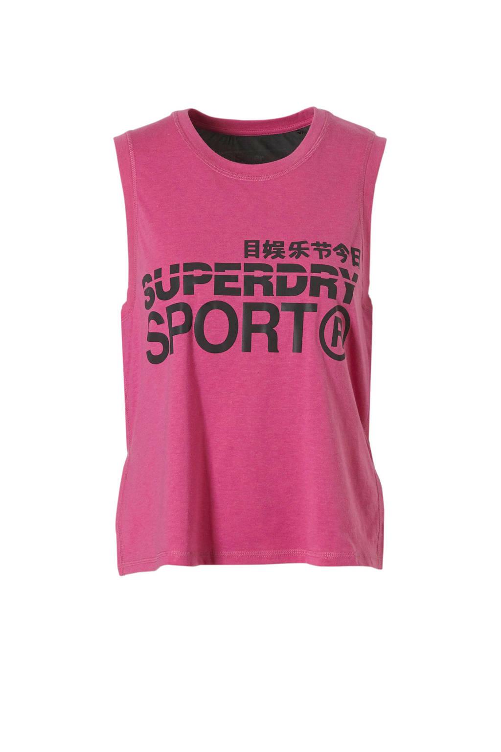 Superdry Sport sport T-shirt roze, Roze