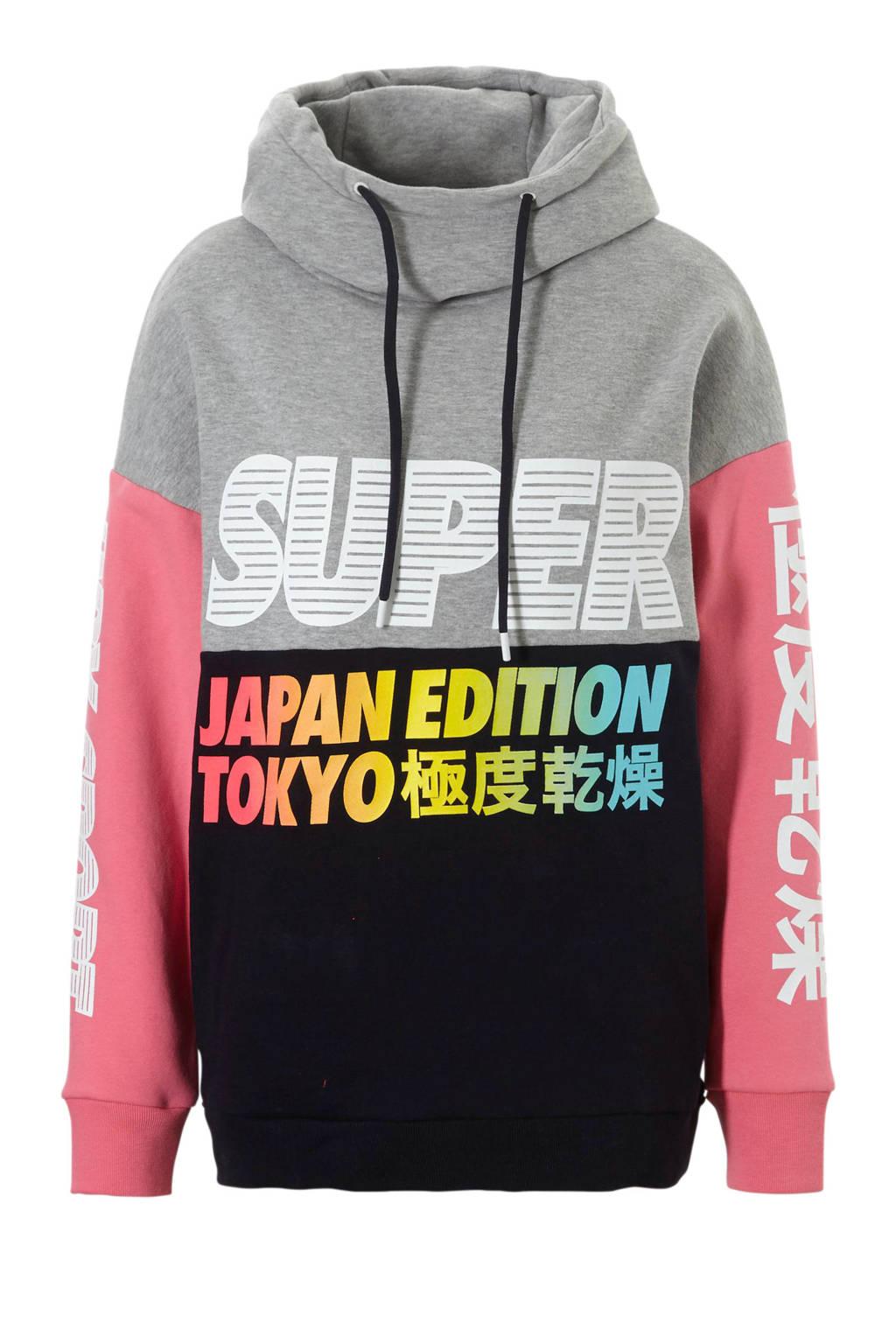 Superdry Sport sweater grijs, Grijs